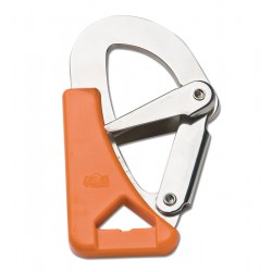 Spring hook with double safety belts, safety
