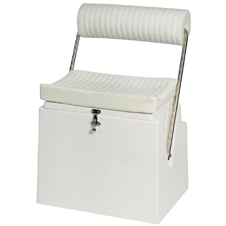 Storage compartment seat with backrest