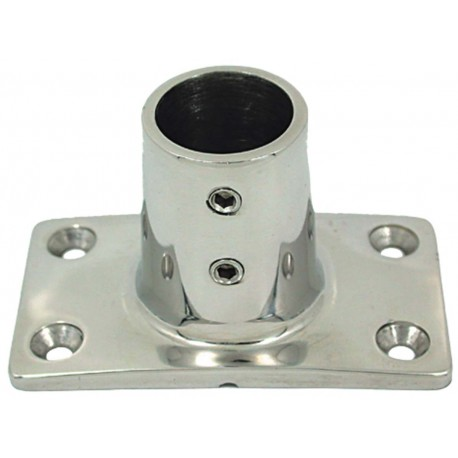 Micro-cast straight 90° base in mirror polished AISI 316 stainless steel