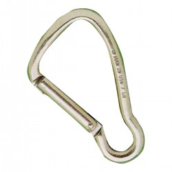 Carabiner in AISI 316 stainless steel - locking Key-Lock