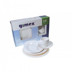 Set (2 people) dishes and cups coffee round
