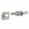 Stainless steel push button closure