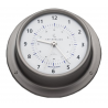 Clock with radio silence ø mm.110 satin stainless steel
