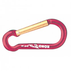 Carabiner in light alloy with color - Locking Key-Lock.