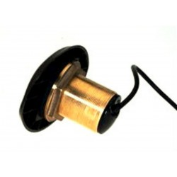 Thru-hull transducer bronze HDI XDCR 50/200kHz 455/800kHz with blue connector 7-pin cable length 10 mt.