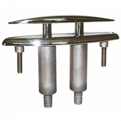 The bollard in AISI 316 stainless steel foldaway
