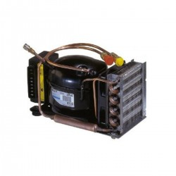 Compressor horizontal with quick coupling and cooling fan