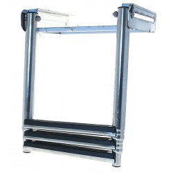 Ladder stainless steel telescopic retractable