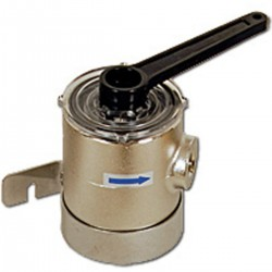 Water filter in nickel-plated brass