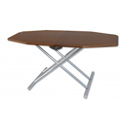 Table with top in Teak adjustable in two positions