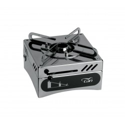 Cooker in stainless steel single fire, alcohol gel